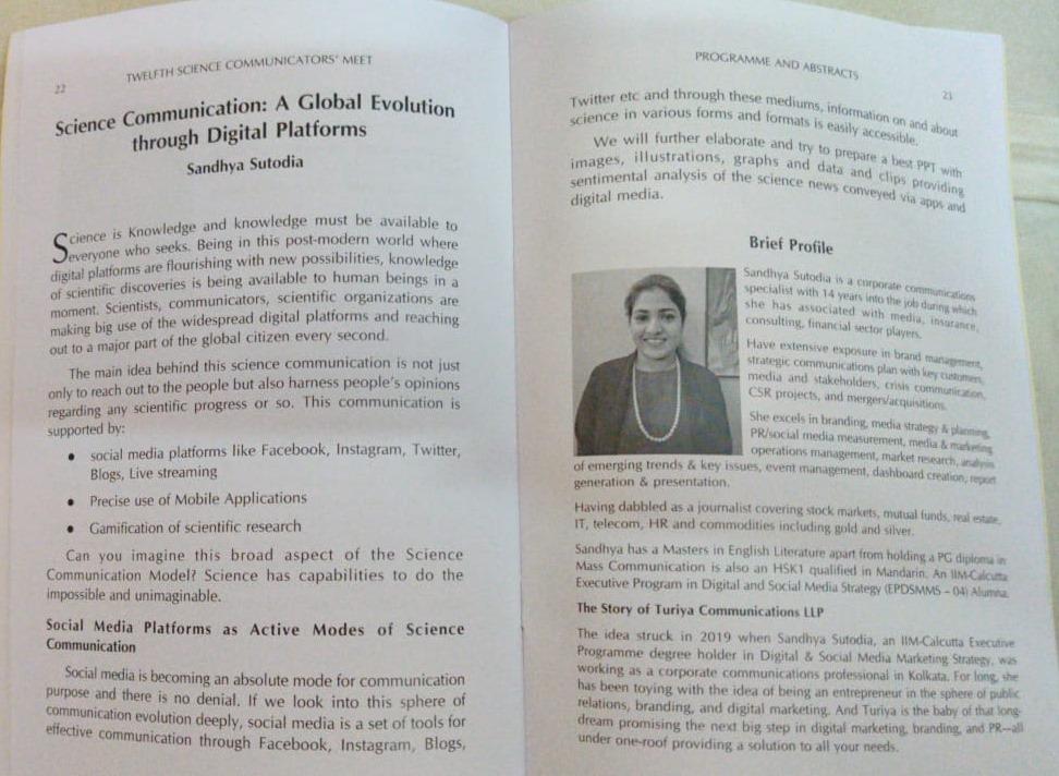 Sandhya Sutodia On ISNA Magazine